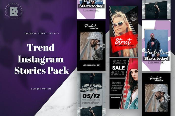 Thumbnail for Instagram Trendy Stories Pack