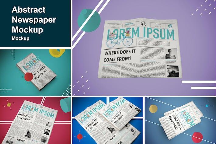 Thumbnail for Abstract Newspaper MockUp