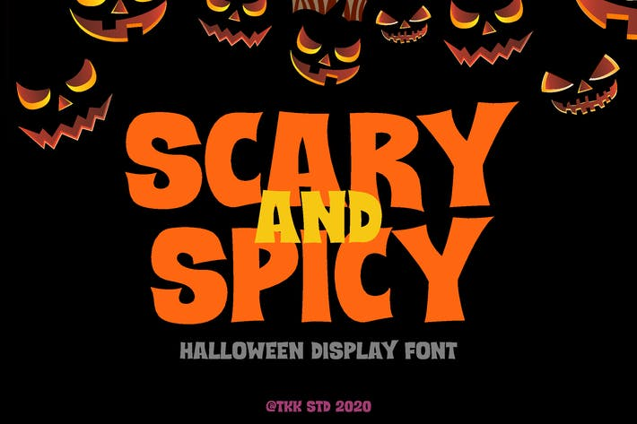 Thumbnail for Scary and Spicy - Horror Creepy Font