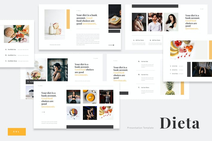 Thumbnail for Dieta - Diet Plan Food Google Slides Template