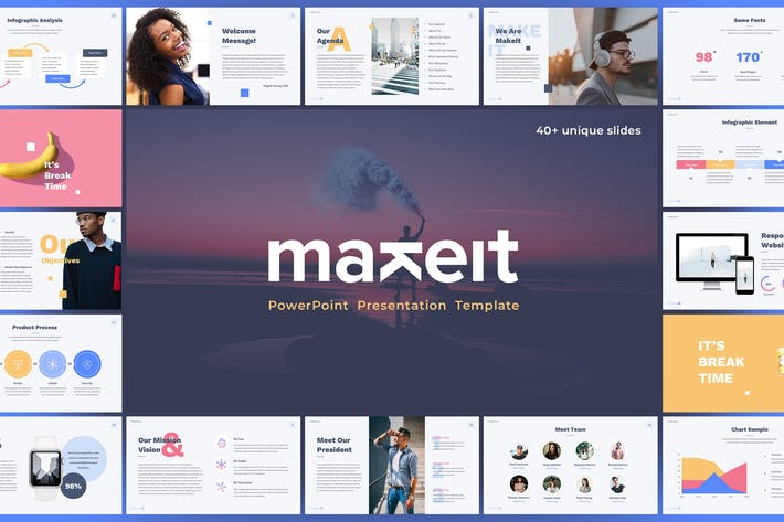 Thumbnail for Makeit - PowerPoint Presentation Template