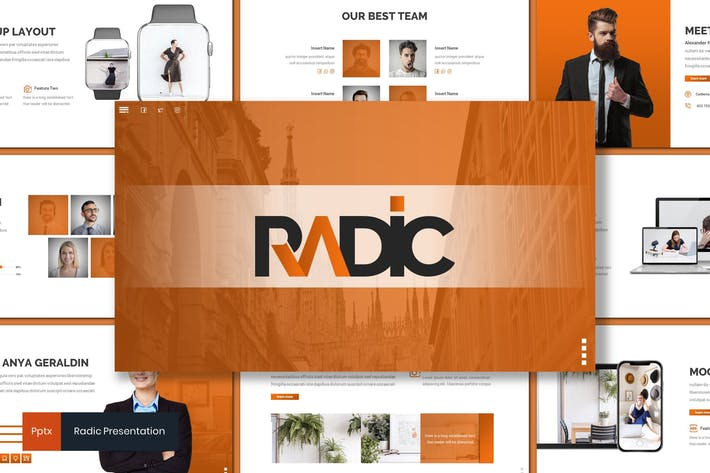 Thumbnail for Radic - Business Powerpoint Template