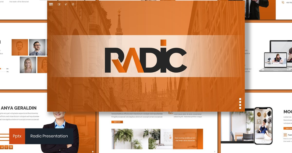 Download Radic - Business Powerpoint Template by inspirasign