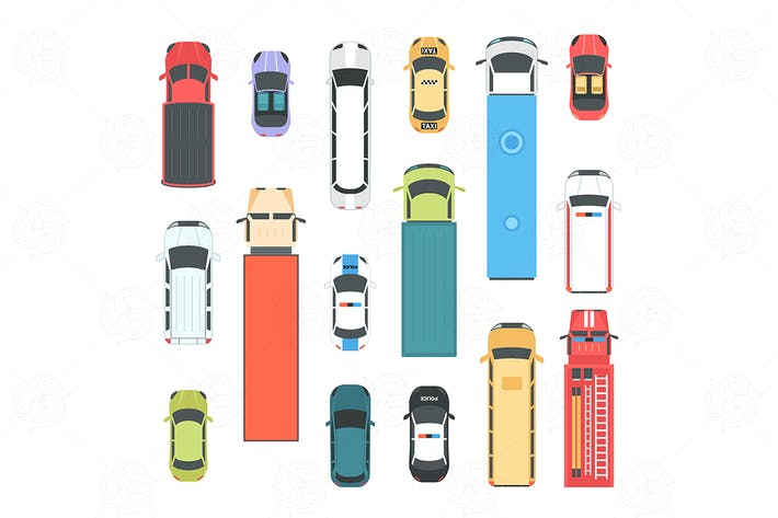 Thumbnail for Vehicles - set of modern vector city elements