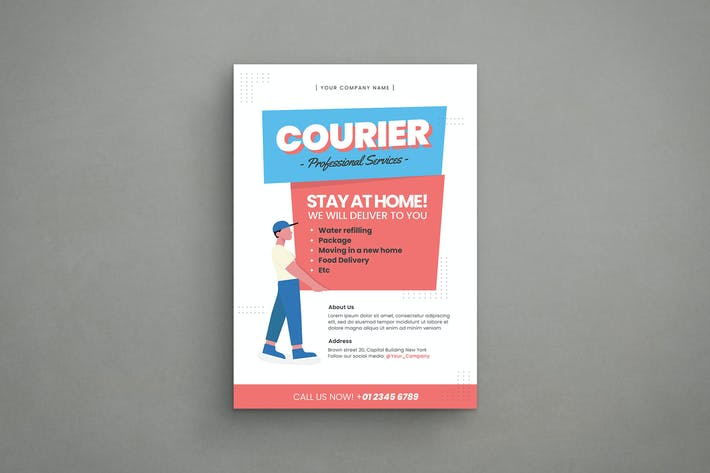 Thumbnail for Courier and Logistics Service Flyer