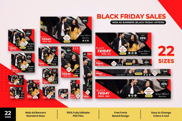 Thumbnail for Black Friday Web Ad Banners