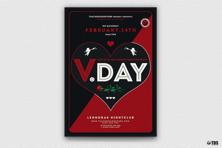 Thumbnail for Valentines Day Flyer Template V17