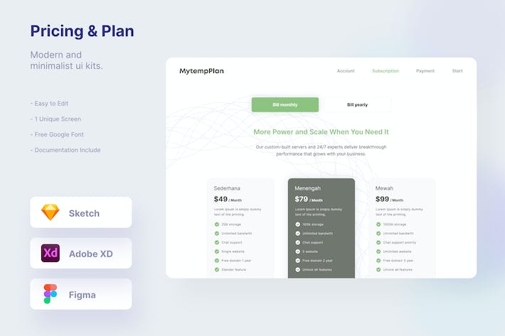 Pricing & Plan Section Template