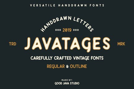 Javatages - a Vintage Typeface
