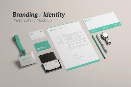 Marken- und IdentitätsMock-up