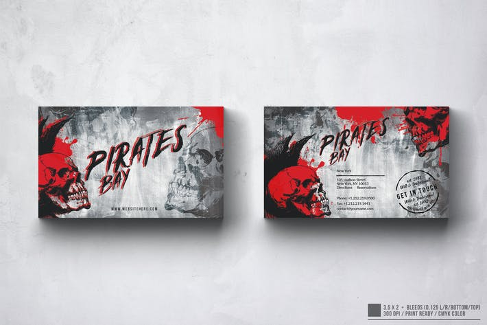 Thumbnail for Vintage Pirates Business Card Design