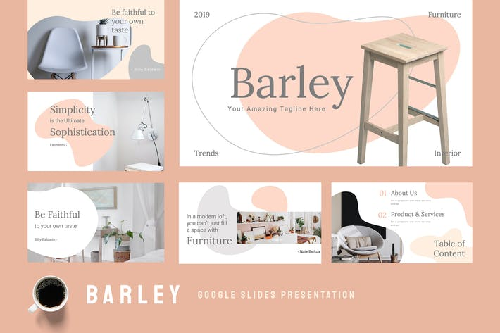 Thumbnail for Barley - Furniture Google Slides Presentation