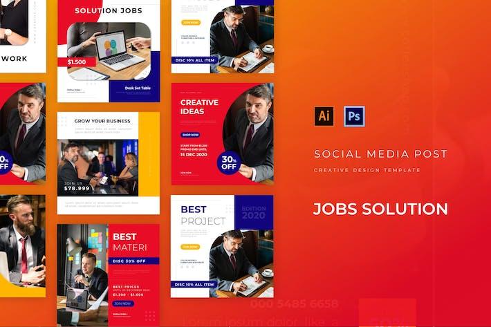 Thumbnail for Job Solution Social Media Post