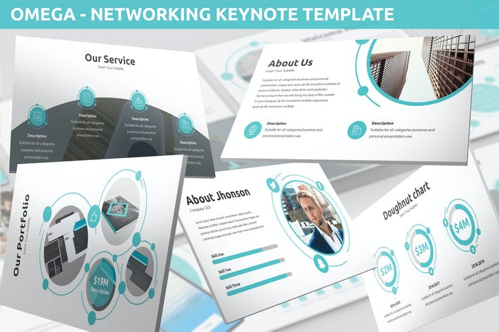 Thumbnail for Omega - Networking Keynote Template