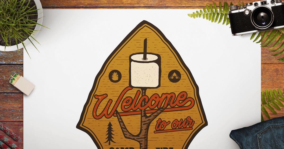 Download Camping Patch / Hiking Badge / Vintage Travel Logo by JeksonJS