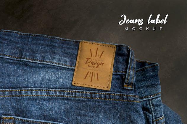 Blue Jeans Label Mockup