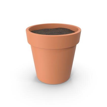 Plant Pot With Soil