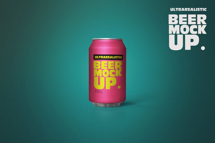 Thumbnail for Clean Beer Can Mockup