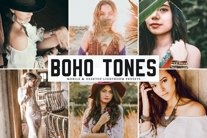 Thumbnail for Пресеты Lightroom Boho Tones для мобильных и настольных компьютеров