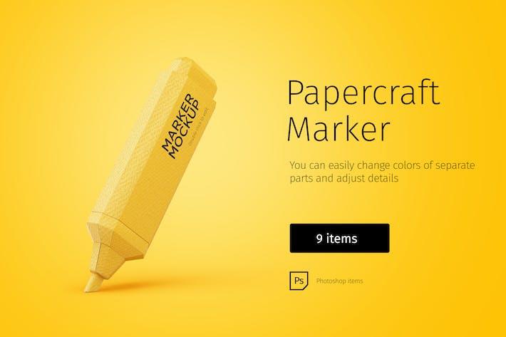 Thumbnail for Papercraft marker editable handmade illustrations