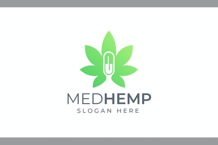 Thumbnail for Med Hemp - Health and Medical Logo