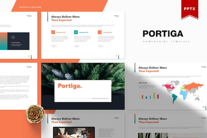 Thumbnail for Portiga | Powerpoint Template
