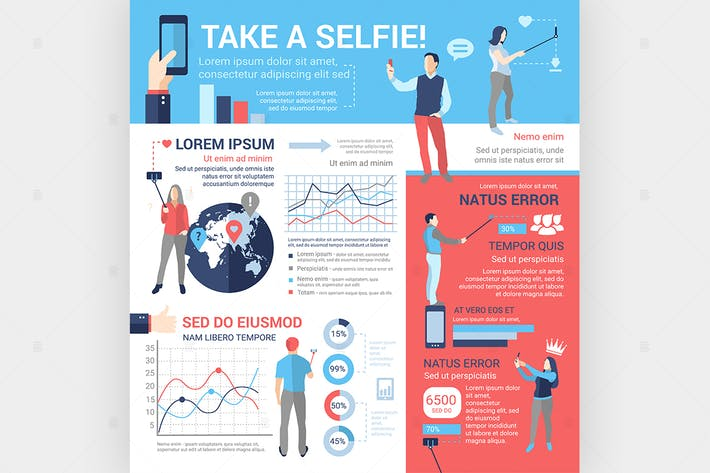 Thumbnail for Take a Selfie - poster, brochure cover template