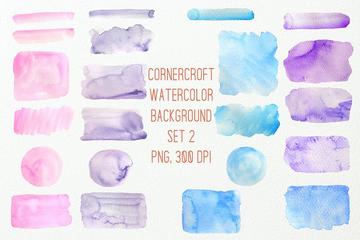 Thumbnail for Watercolor background texture blue purple