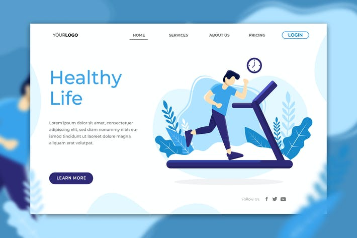 Thumbnail for Healthy Life Landing Page
