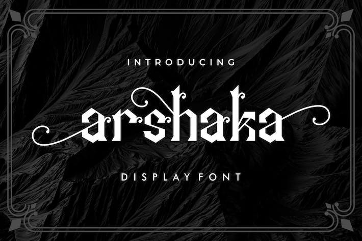 Arshaka - Great Display Font