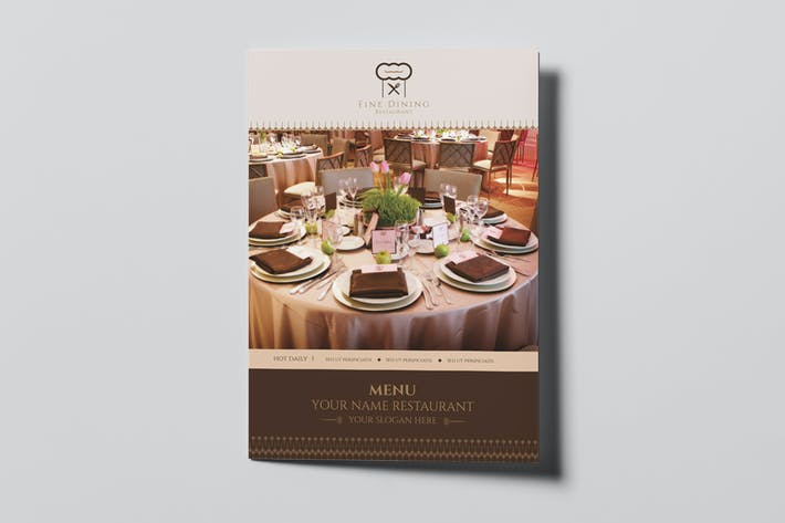 Thumbnail for Fine Dining Restaurant - Menu Template