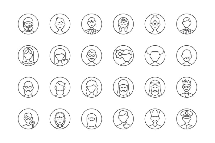 Thumbnail for 39 User Avatars Icons
