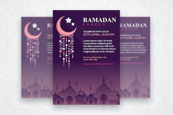 Thumbnail for Modèle de dépliant Ramadan