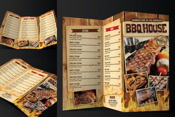 Thumbnail for Trifold BBQ/Steak Menu