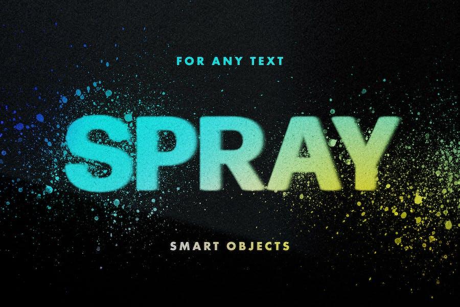 Spray Stencils Text Effect