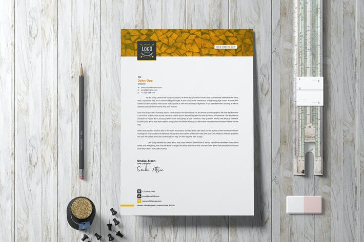 Thumbnail for Letterhead Template Retro 03