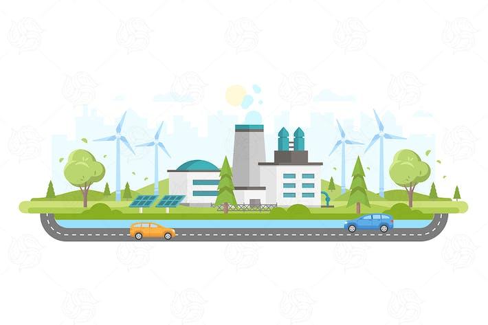 Thumbnail for Eco-friendly plant - flat design illustration