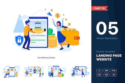 [Part 16] Banking & Finance Illustration Set