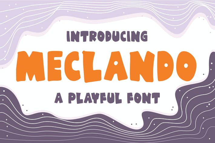 Thumbnail for Meclando - A Playful Font
