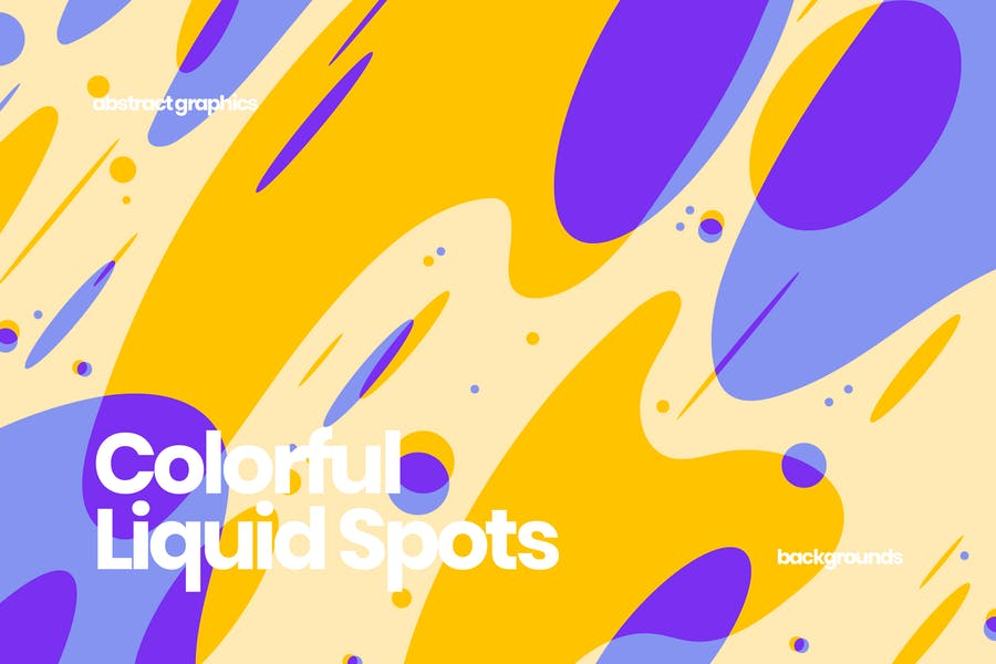 Colorful Liquid Shapes Backgrounds