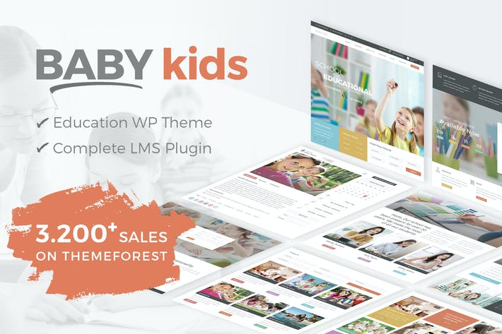 Thumbnail for Baby Kids - School WordPress Theme
