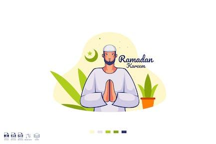 Ramadhan Moubarak Vecteur