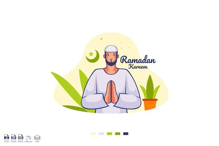 Ramadhan Mubarak Vector