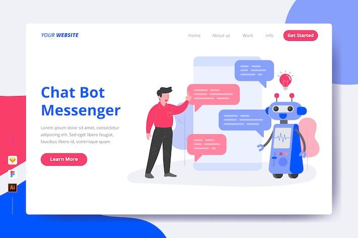 Thumbnail for Chat Bot Messenger - Landing Page