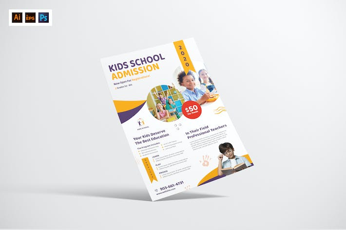 Thumbnail for Kid's School Admission Flyer