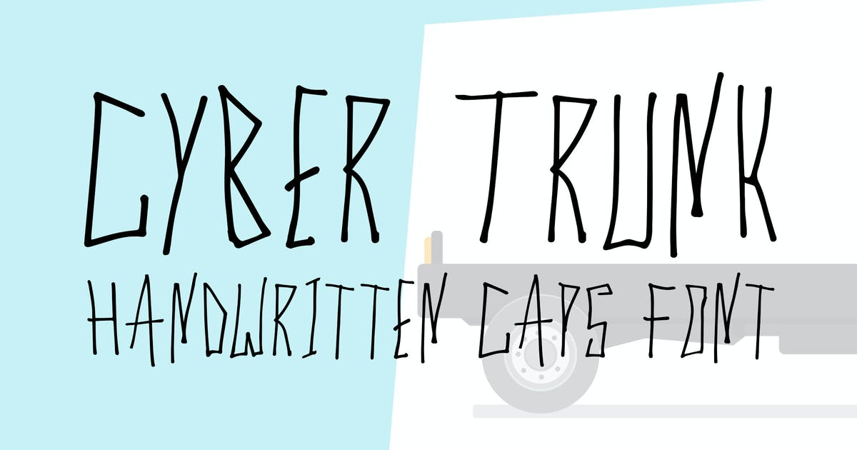 Cyber Trunk - Handwritten Font by Muse-Master