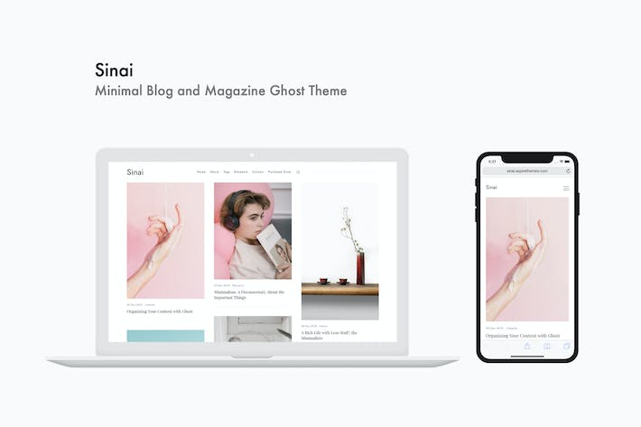 Sinai - Minimal Blog and Magazine Ghost Theme