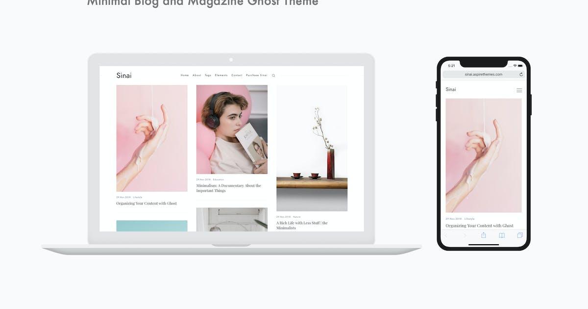 Download Sinai - Minimal Blog and Magazine Ghost Theme by aspirethemes
