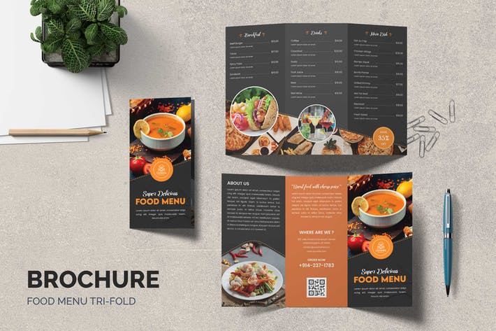 Thumbnail for Food Trifold Brochure
