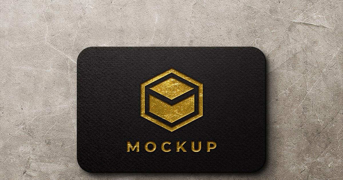 Download Texture Gold Logo Mockup by sagesmask